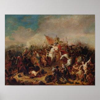 La batalla de Hastings en 1066 Póster