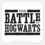 La batalla de Hogwarts Pegatina Cuadrada