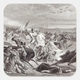 La batalla de Kalka Pegatina Cuadrada