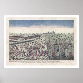La batalla de la impresión 1781 de Yorktown Impresiones