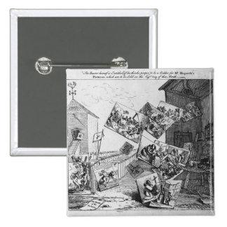 La batalla de las imágenes, 1745 pin cuadrado