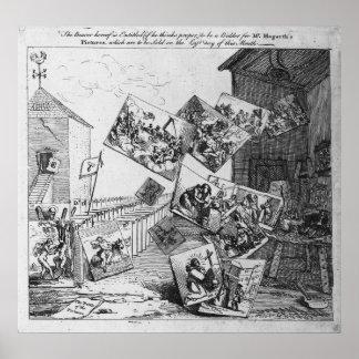La batalla de las imágenes, 1745 póster