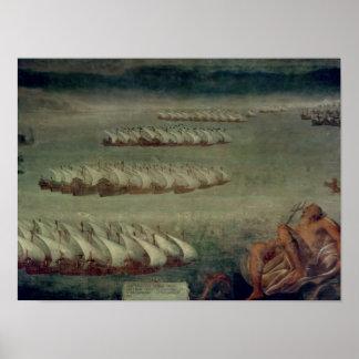 La batalla de Lepanto, el 7 de octubre de 1571 Posters