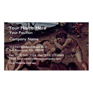 La batalla de los Centaurs y del detalle de Lapith Plantilla De Tarjeta De Visita