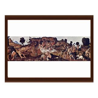 La batalla de los Centaurs y del Lapiths de Piero Postales
