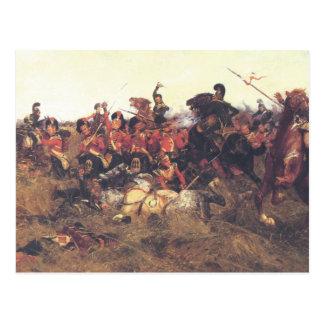 La batalla de los sujetadores de Quatre en 1815 Postales