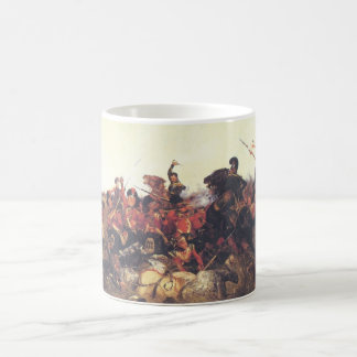 La batalla de los sujetadores de Quatre en 1815 Taza Clásica