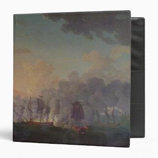 La batalla de Louisbourg el el 21 de julio de 1781