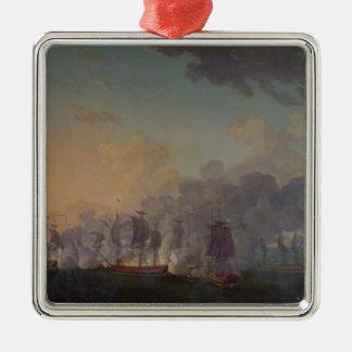 La batalla de Louisbourg el el 21 de julio de 1781 Adornos