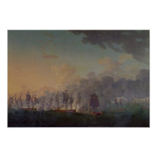 La batalla de Louisbourg el el 21 de julio de 1781 Impresiones