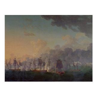 La batalla de Louisbourg el el 21 de julio de 1781 Tarjeta Postal