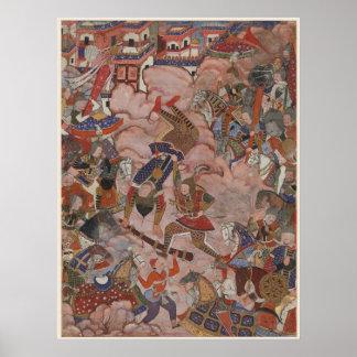 La batalla de Mazandaran del Hamzahnamah Poster