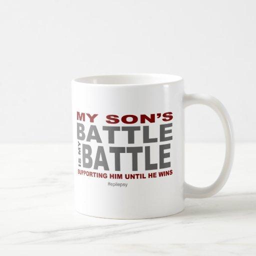 La batalla de mi hijo taza