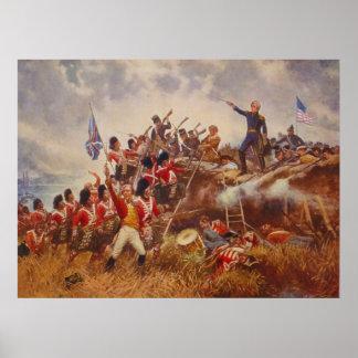 La batalla de New Orleans de Edward Percy Moran Póster