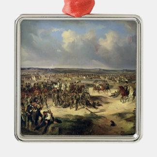 La batalla de París el 17 de marzo de 1814, 1834 Adorno Navideño Cuadrado De Metal
