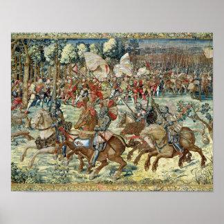 La batalla de Pavía. El avance de Charles V Posters