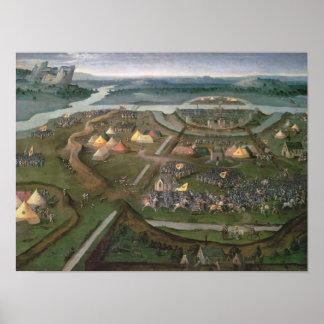 La batalla de Pavía en 1525, c.1530 Póster