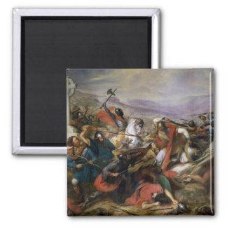 La batalla de Poitiers, ganada por Charles Martel Imán Cuadrado