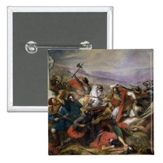 La batalla de Poitiers, ganada por Charles Martel Pin Cuadrada 5 Cm
