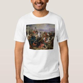 La batalla de Poitiers, ganada por Charles Martel Playera