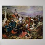 La batalla de Poitiers, ganada por Charles Martel Póster