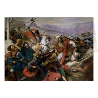 La batalla de Poitiers, ganada por Charles Martel Tarjeta De Felicitación