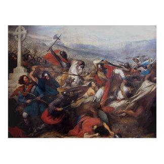 La batalla de Poitiers Tarjeta Postal