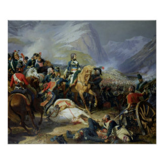 La batalla de Rivoli, 1844 Póster