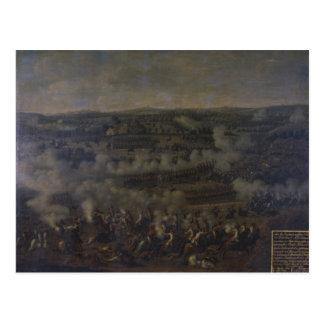 La batalla de Rossbach, 1757 Tarjeta Postal