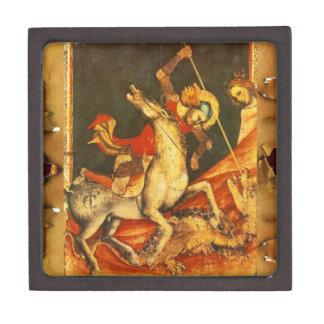 La batalla de San Jorge con el dragón Cajas De Joyas De Calidad