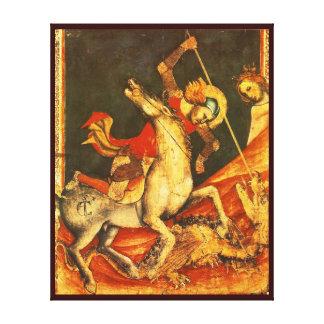 La batalla de San Jorge con el dragón Impresiones En Lona