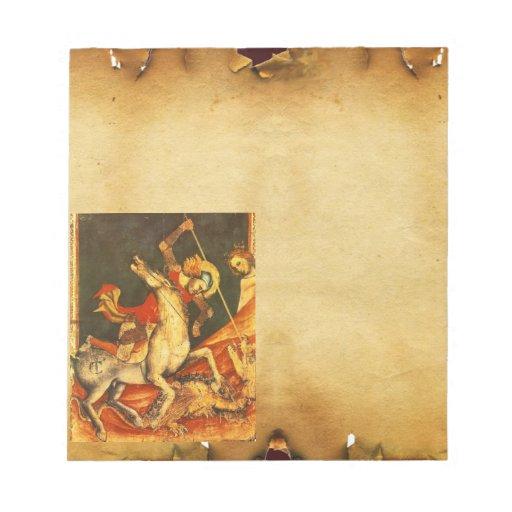 La batalla de San Jorge con el dragón Libreta Para Notas