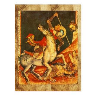 La batalla de San Jorge con el dragón Tarjetas Postales