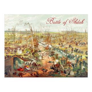 La batalla de Shiloh Postales