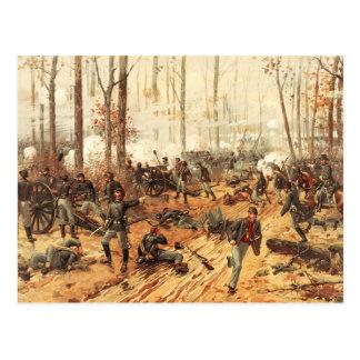 La batalla de Shiloh Tarjeta Postal