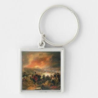 La batalla de Smolensk, el 17 de agosto de 1812, 1 Llavero Cuadrado Plateado