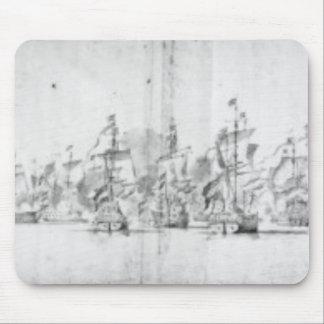La batalla de Solebay, el 28 de mayo de 1672 Mousepads
