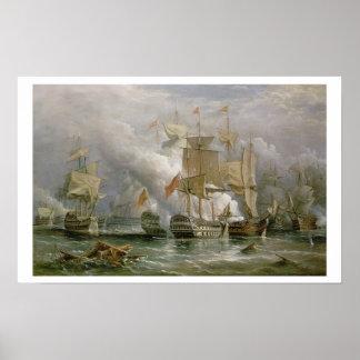La batalla de St. Vincent del cabo, el 14 de febre Póster