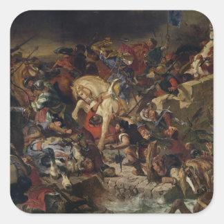 La batalla de Taillebourg, el 21 de julio de 1242, Pegatina Cuadrada