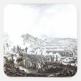 La batalla de Talavera de la Reina Pegatina Cuadrada