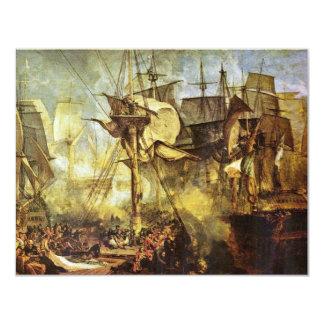 La batalla de Trafalgar por Steuerbordbesanwanten Invitación 10,8 X 13,9 Cm