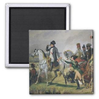 La batalla de Wagram, el 6 de julio de 1809, 1836 Imán Cuadrado