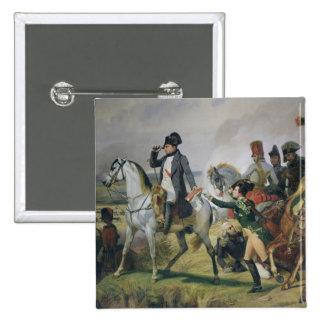 La batalla de Wagram, el 6 de julio de 1809, 1836 Pin Cuadrado
