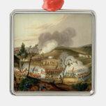 La batalla de Waterloo, el 18 de junio de 1815 Adorno Navideño Cuadrado De Metal