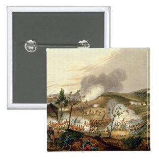 La batalla de Waterloo, el 18 de junio de 1815 Pin Cuadrado
