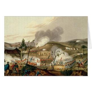 La batalla de Waterloo el 18 de junio de 1815 Tarjetón