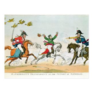 La batalla de Waterloo Tarjetas Postales