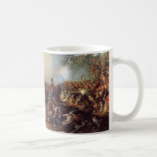 La batalla de Waterloo Taza