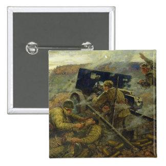 La batalla de Yelnya cerca de Moscú en 1941 Pin Cuadrada 5 Cm