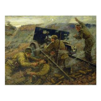 La batalla de Yelnya cerca de Moscú en 1941 Tarjetas Postales